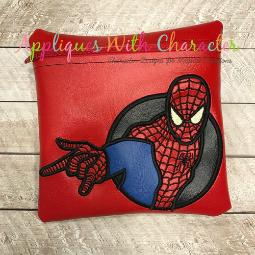 Spider Hero Applique Design