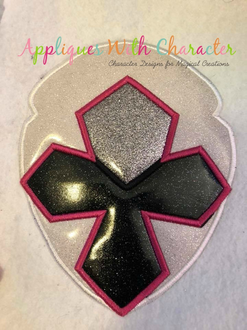 Ninja White Helmet Applique Design