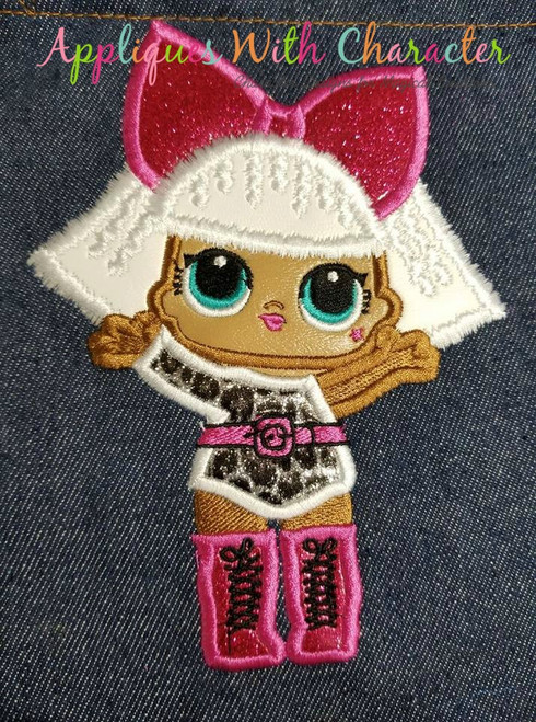 Diva Doll Applique Design