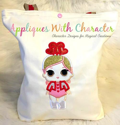 Valentines Doll Applique Design