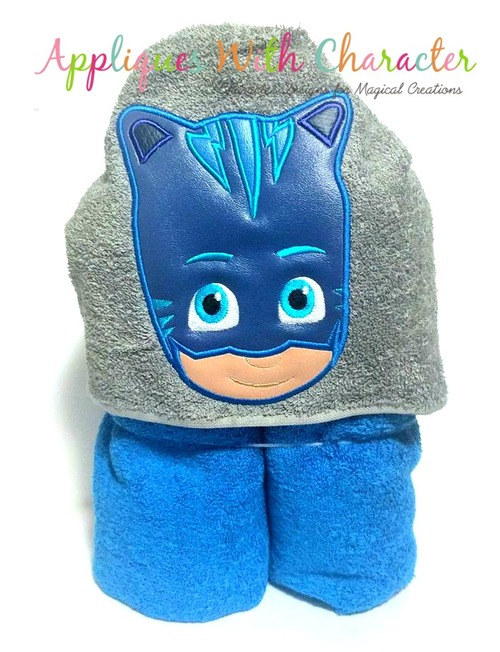 Hero Masked Cat Applique Design