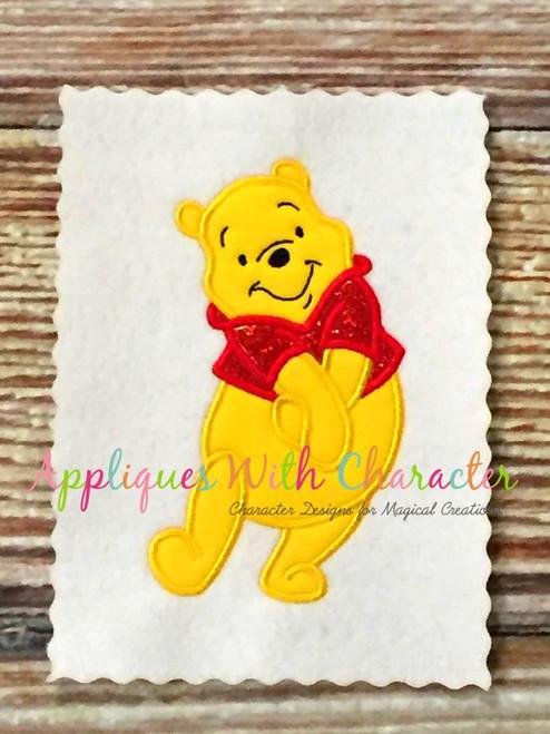 Honey Bear Hands in Front Applique Design