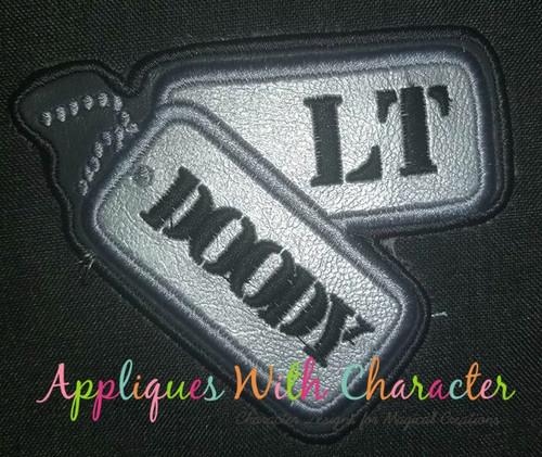 Dog Tags Patch Military Applique Design