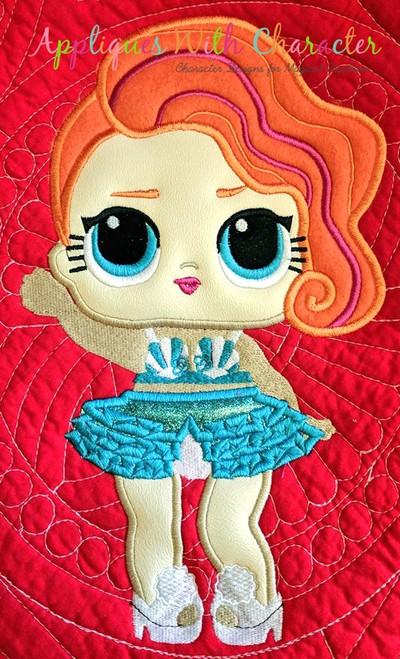Pearl Surprise Doll Applique Design