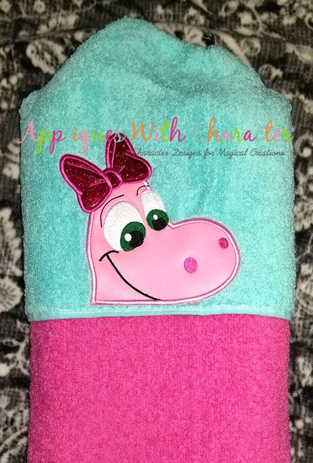 Good Dinosaur Girl Peeker Applique Design