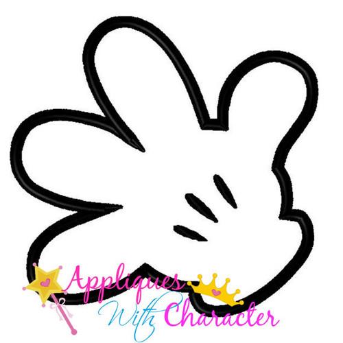 Mr Mouse Miss Mouse Hand Applique Design