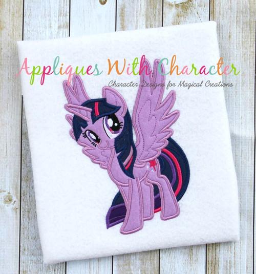 MLP Twilight Unicorn Pony Applique Design