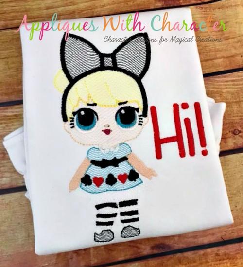 Alice Doll Bean Stitch Design
