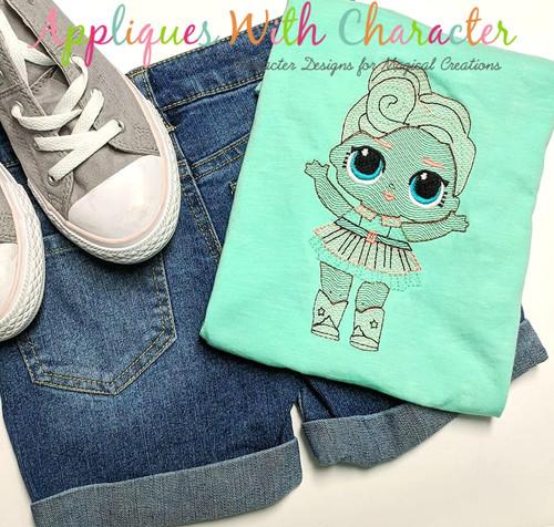Luxe Doll Bean Stitch Design