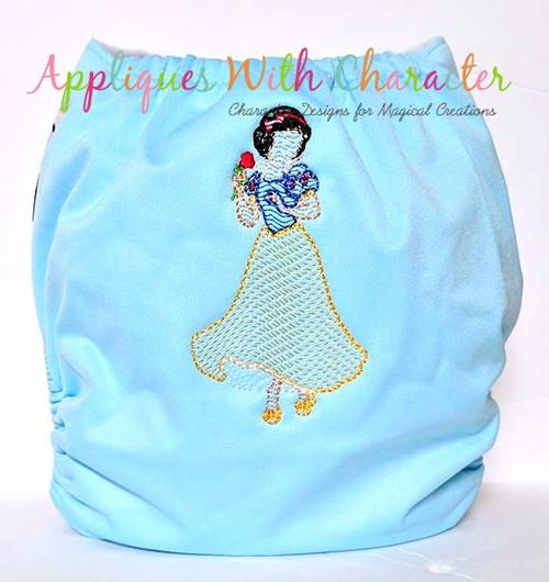 Snow Girl Full Body Bean Stitch Design