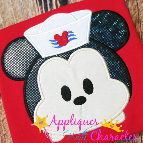 Mr Mouse Sailor Tsum Applique Design
