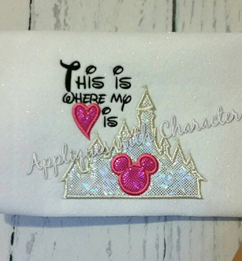 This is Where My Heart Is Castle  Applique Design