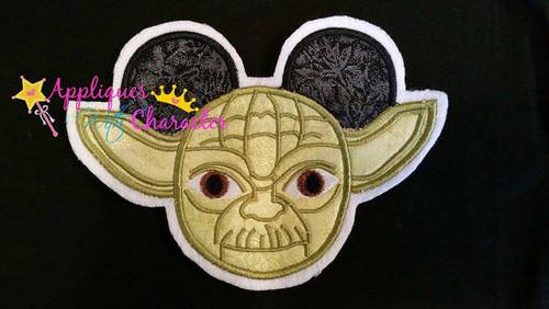 Mr Mouse Ears Yoda Star Fight  Applique Design
