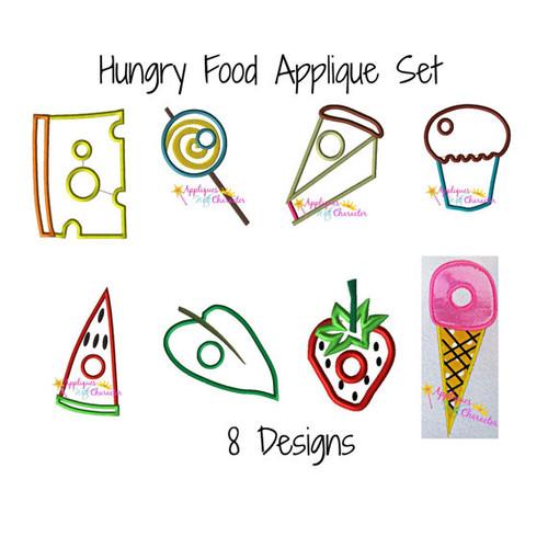 Hungry Food Applique Design Set