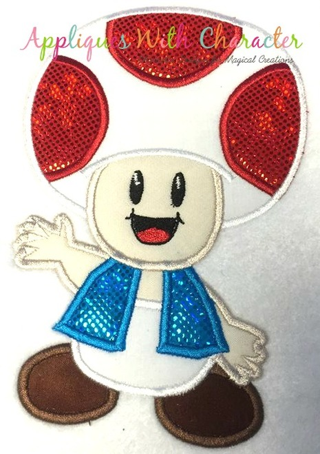 Toad Mareo Applique Design