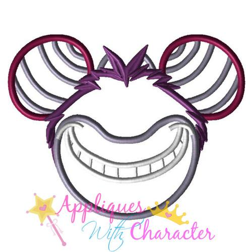 Cheshire Cat Mr Mouse Head Applique Design