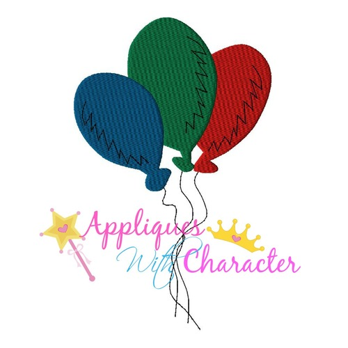 Seuss Balloons Applique Design