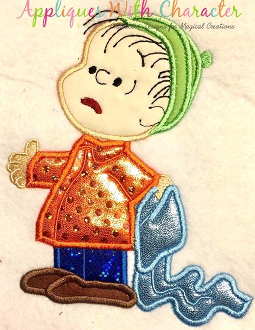 Peanuts Christmas Linos Applique Design