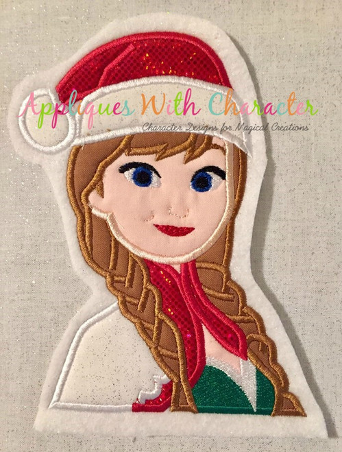 Frozen Anna Christmas Applique Design