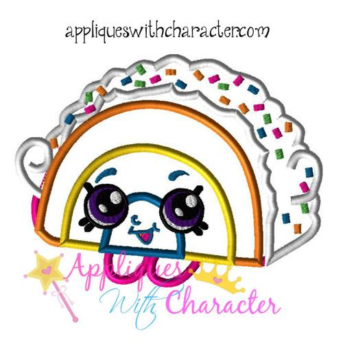 Shopikins Rainbow Bite Applique Design
