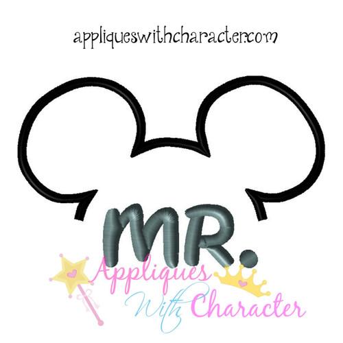 MR Mouse Groom Applique Design