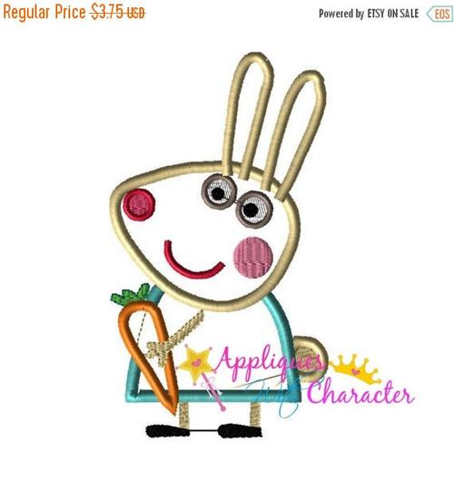 Pepper Pig Rebekah Rabbit Applique Design