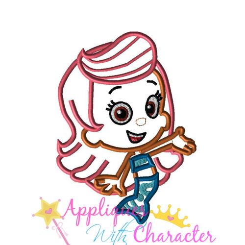 Bubble Girl Applique Design