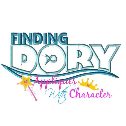 Finding Dorie Logo Applique Design