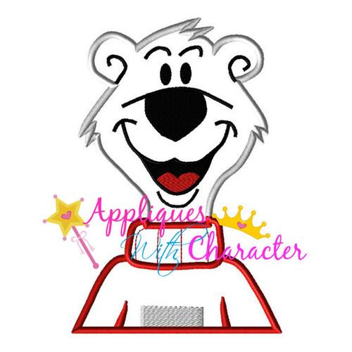 Icee Polar Bear Applique Design