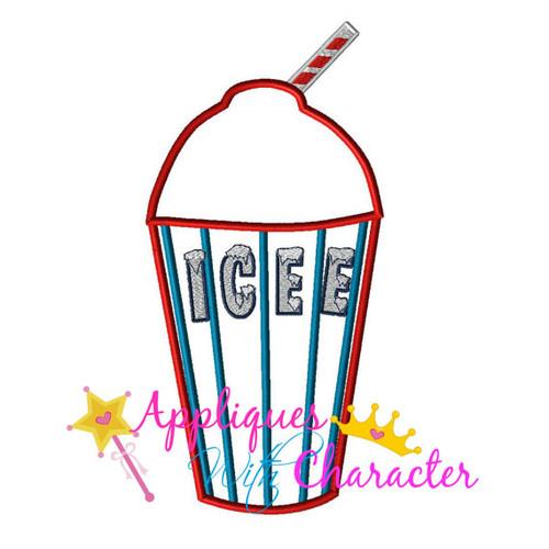 Icee Drink Logo Applique Design