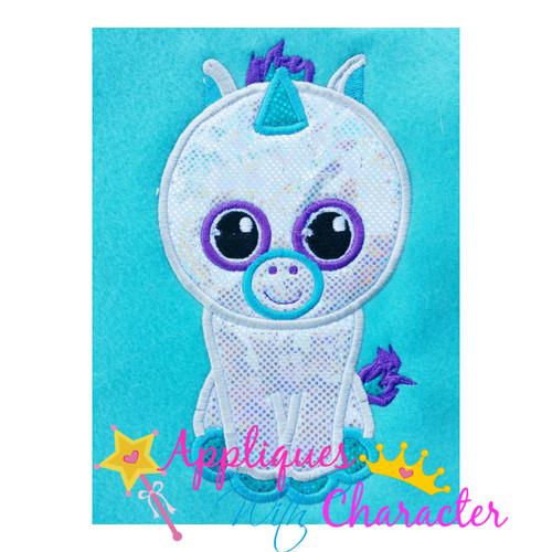 Beanie Boo Unicorn Applique Design