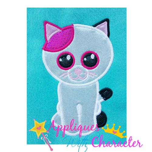 Beanie Cat Applique Design