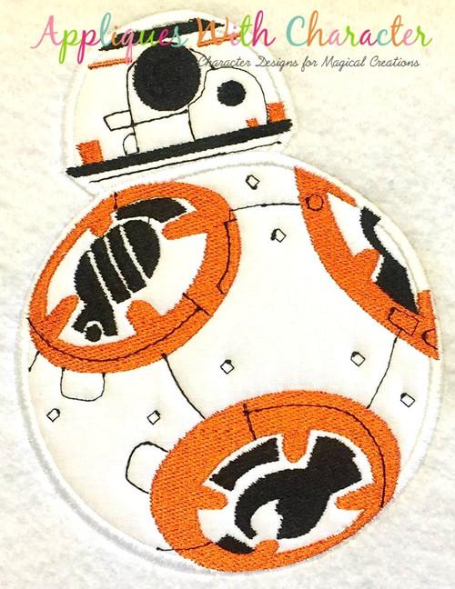 Star Battle BB8 Applique Design