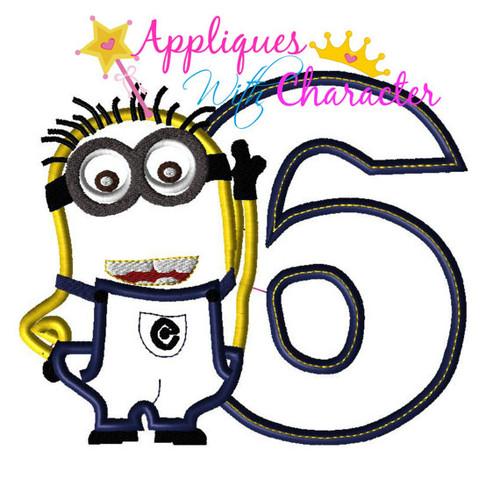 Minion Six Applique Design