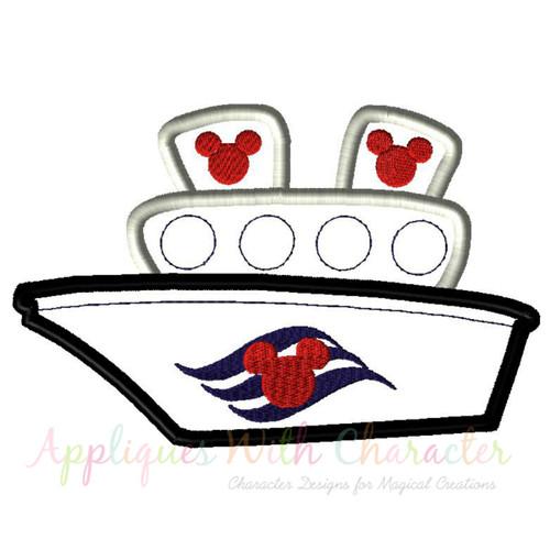 Cruise Ship 2 Applique Design