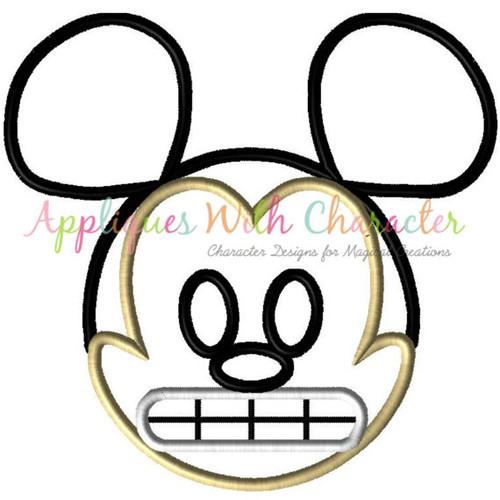 Mr Mouse Emoji Applique Design