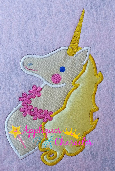 Pink Girl Inspired Unicorn Bust Applique