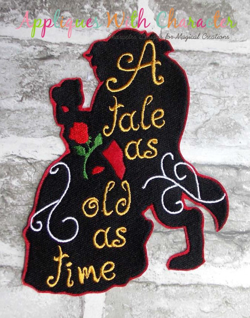 Beauty Bella Tale As Old As Time Silhouette Design