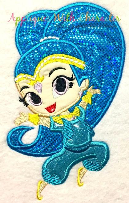 Shiny Genie Applique Design