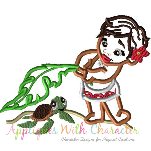 Island Baby Girl Applique Design