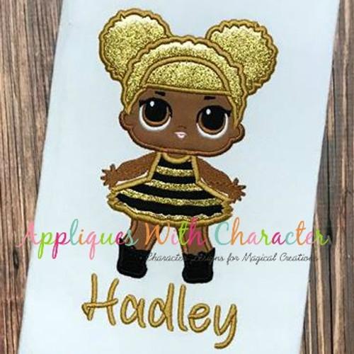Glitter Doll Applique Design