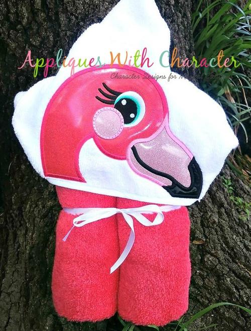 Flamingo Peeker Applique Design