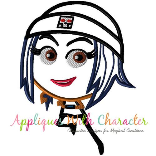 Emoji Girl Applique Design