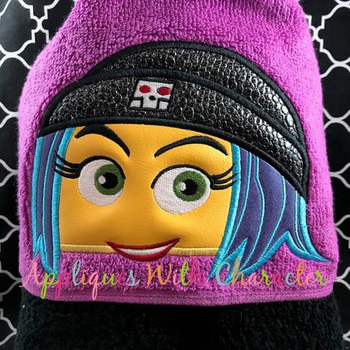 Emoji Girl Peeker Applique Design
