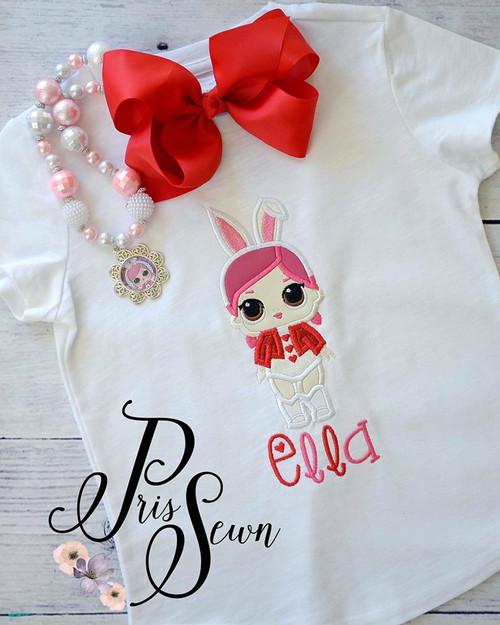 Bunny Doll Applique Design