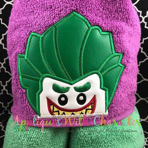 Joker Block Peeker Applique Design