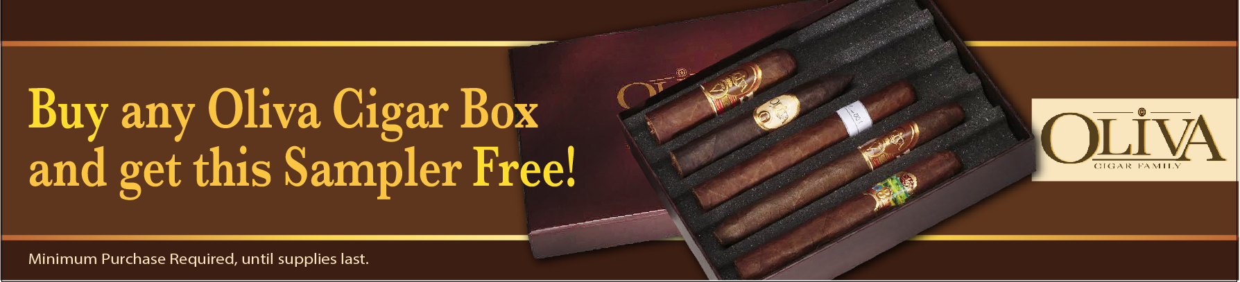 buy oliva, padilla or nub box cigars free sampler