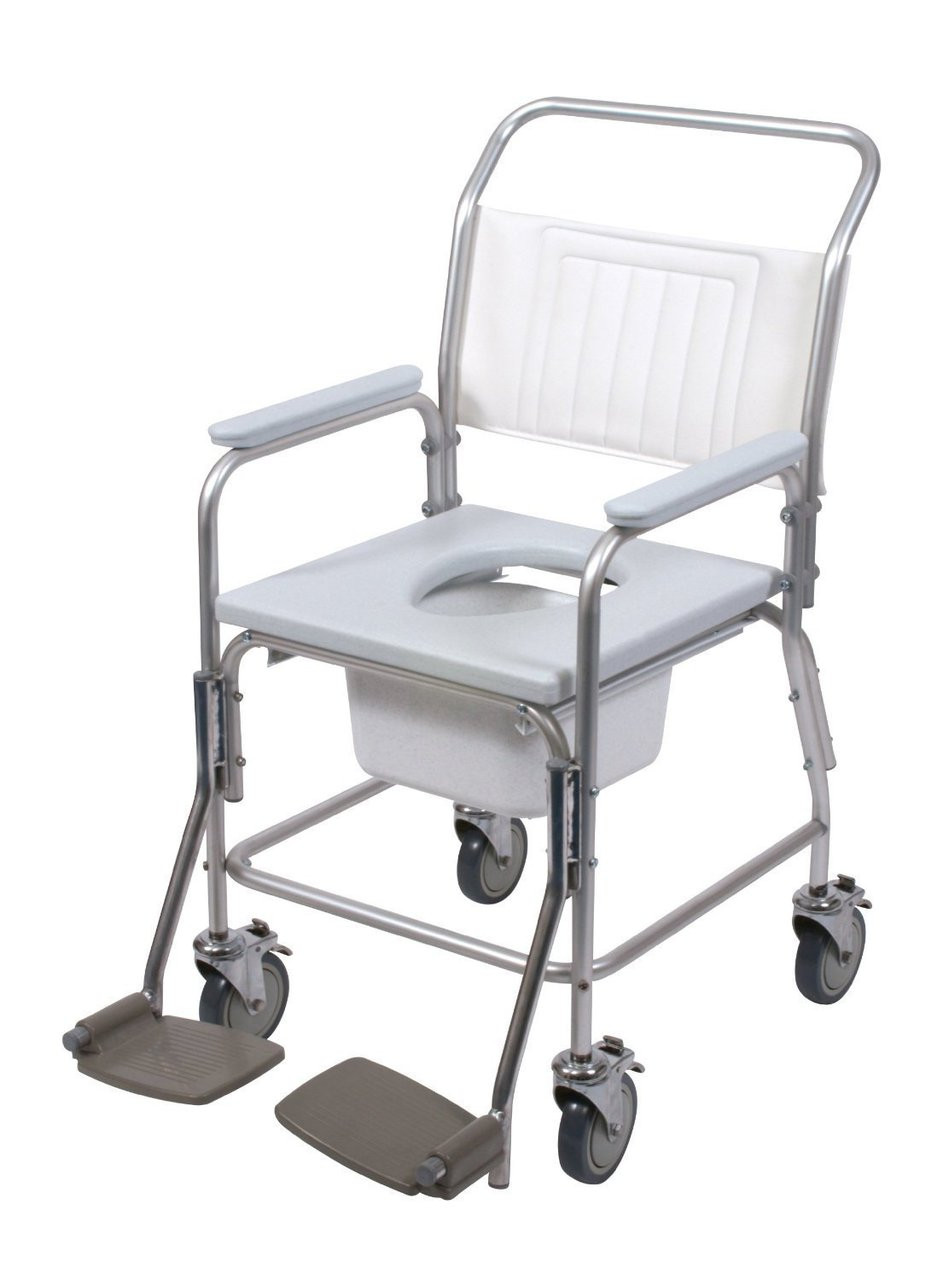 Days Aluminium Economy Wheeled Shower Commode Chair | Glebe Healthcare