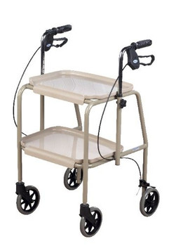 Days Healthcare Adjustable-Height Cream Trolley Walker