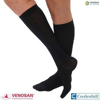 VENOSAN MicroFiberLine Womens Compression Socks Black 15-20 mmHg